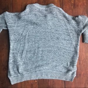 Express Sweaters - Express Light Gray Cold Shoulder Sweater